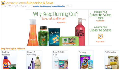 subscriptions for savings
