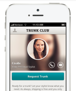 Trunk Club- a personalized shopping service for men