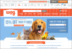 Pet supplies delivered directly to your door, within a day or two.