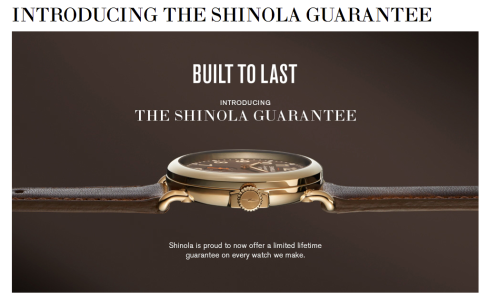 Shinola handmade watches